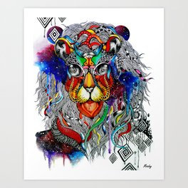 Space Lion - Maahy Art Print
