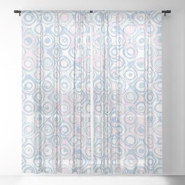 Dreaming in Pastel Blue Sheer Curtain