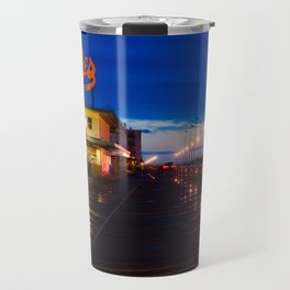 Early Morning at Dolles Coastal Landscape Photograph - Boardwalk Artwork Travel Mug