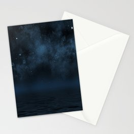 Universe & Ocean -   Space - Night Sky - Stars - Ocean - Night Stationery Cards