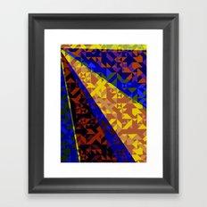 Aztec Geometric Beam Framed Art Print