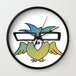 100 Days of School Survived 100 Days of Me Bird Wall Clock