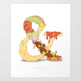Burger & Fries Art Print