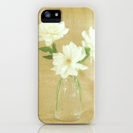 Burlap and Roses iPhone Case