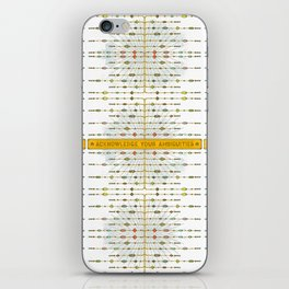 Acknowledge Your Ambiguities. iPhone Skin