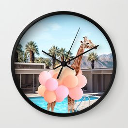 Giraffe Palm Springs Wall Clock