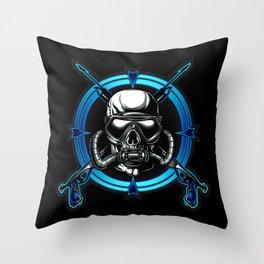 Diver Skull. Throw Pillow