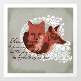 Foxes Have Dens Art Print