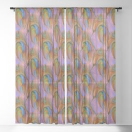 Splattering Sheer Curtain