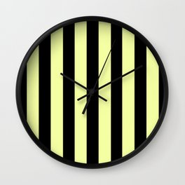 Black and yellow stripes Wall Clock