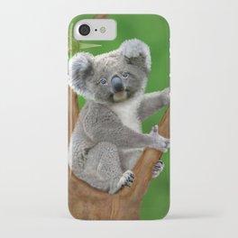 Blue-eyed Baby Koala Bear iPhone Case