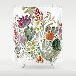 Succulents  Shower Curtain