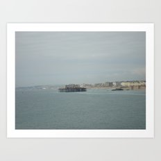 The Corpse of the West Pier Art Print