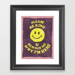 Remind Me Framed Art Print