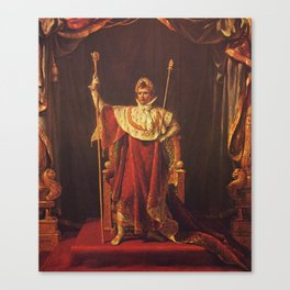 Napoleon I in His Imperial Robes Canvas Print
