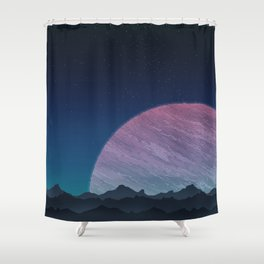 To lands untouched we travel. Shower Curtain