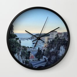 Summer in Monte Carlo Wall Clock