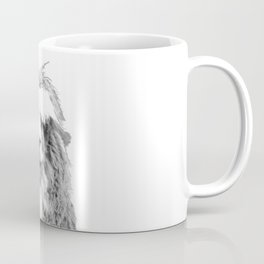Black and White Alpaca Coffee Mug