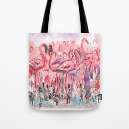 Flamingoes Tote Bag