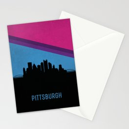 Pittsburgh Skyline Stationery Cards