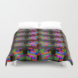 Colored-H-pattern Duvet Cover