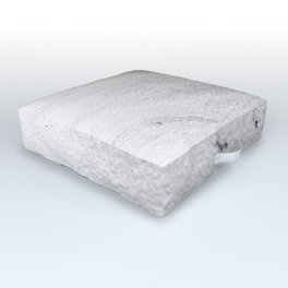 Gray & White Marble Pattern Outdoor Floor Cushion