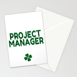 Luckiest Project Manager Ever St. Patricks Day Lucky Irish Stationery Cards