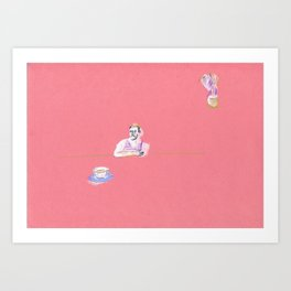 have a cup of tea Art Print