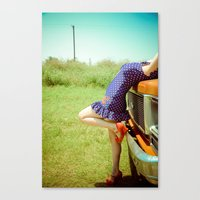 pin up Canvas Prints featuring Pin-Up. by Jessie Kuruc