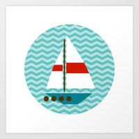 boat Art Prints featuring Boat by Valendji