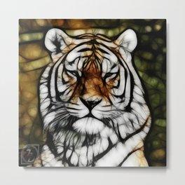 Painted Tiger Metal Print