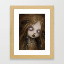 The face of all your fears Framed Art Print