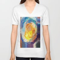 watercolour V-neck T-shirts featuring WaterColour by MonsterBrown