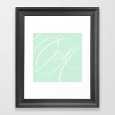 Rad. Framed Art Print