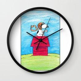 pilot Snoopy Wall Clock