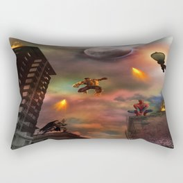 Super Hero Showdown Rectangular Pillow