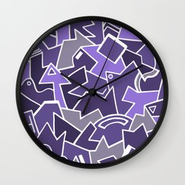 Violet Galaxy Wall Clock