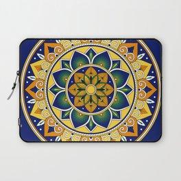 Italian Tile Pattern – Peacock motifs majolica from Deruta Laptop Sleeve
