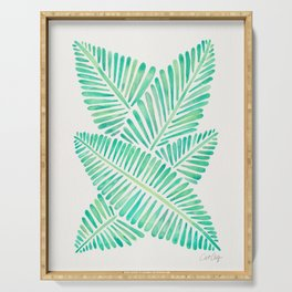 Tropical Banana Leaves – Mint Palette Serving Tray