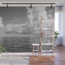 Monochrome Ocean View Wall Mural