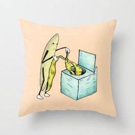 Banana Laundry Throw Pillow