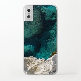 Cyprus Sea III Clear iPhone Case