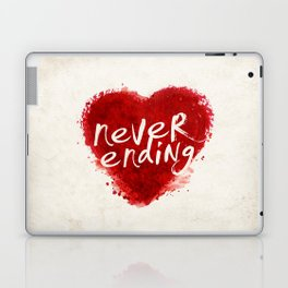never ending love Laptop & iPad Skin