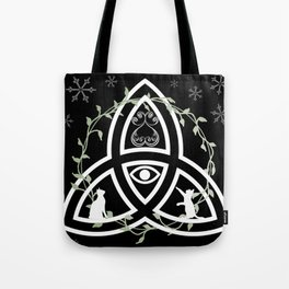 Celtic Knot, Evil Eye, and Cats Tote Bag