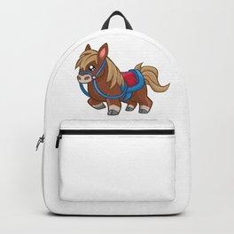 Cartoon Brown Pony Horse Backpack