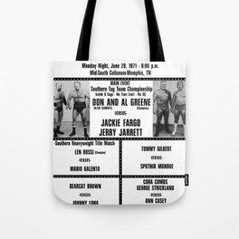 #14 Memphis Wrestling Window Card Tote Bag