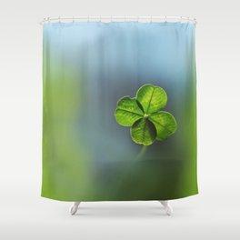 Lucky Four Leaf Clover Shower Curtain