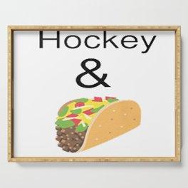 Hockey & Taco (with Taco Clip Art) Serving Tray