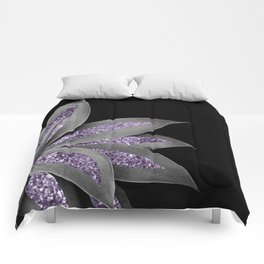 Agave Finesse Glitter Glam #3 #tropical #decor #art #society6 Comforters