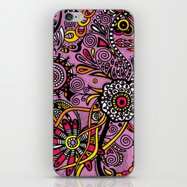 Flores Rosas iPhone Skin